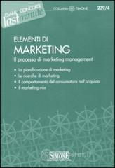 Elementi di marketing. Il processo di marketing management. E-book