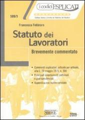 Statuto dei lavoratori. Brevemente commentato. E-book