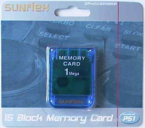 PS Memory Card 1 Mb SUNFLEX