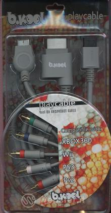 X360 WII PS3 PS2 PLAYCABLE 4IN1 BKOOL