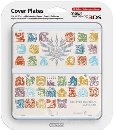 Nintendo New 3DS Cover M.Hunter 4 Bianco