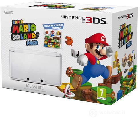 Nintendo 3DS Bianco Ghiaccio+Super Mario