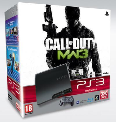 Playstation 3 320GB K + COD MW3+Skin COD