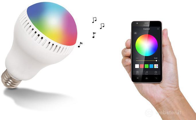 Goclever Speaker Lampada Color Sound