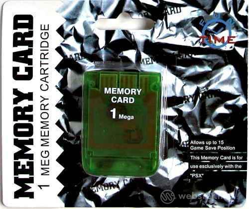 PS Memory Card 1 Mb Color - XTECNOLOGIES