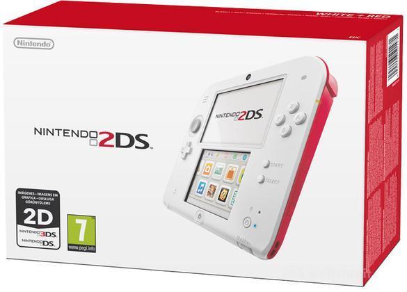Nintendo 2DS - Bianco + Rosso