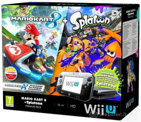 Wii U Mario Kart 8+Splatoon Premium Pack