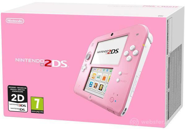 Nintendo 2DS - Rosa + Bianco