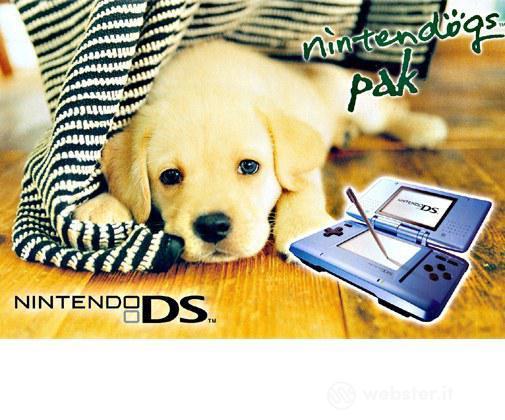 Nintendo DS - Blue + Nintendogs Labrador