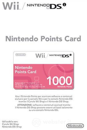 NINTENDO WII DSi Points Card 1000