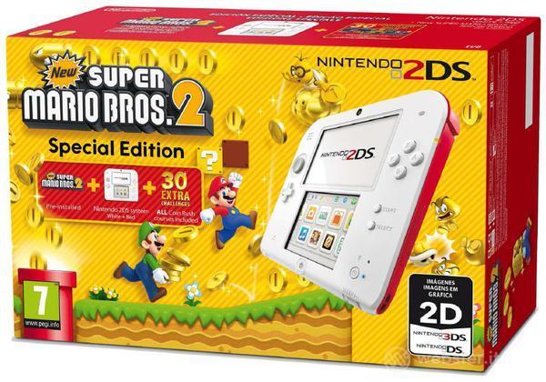 Nintendo 2DS Bianco+Rosso New S.M.Bros 2