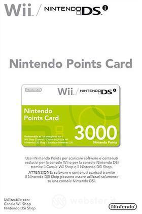 NINTENDO Wii DSi Points Card 3000