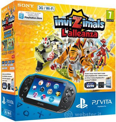 PS Vita 3G+Card4GB+Invizimals:L'Alleanza