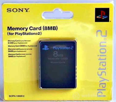 PS2 Sony Memory Card 8 Mb Nera