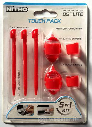 DS Lite Kit 5 in 1 Touch Pack Red NITHO