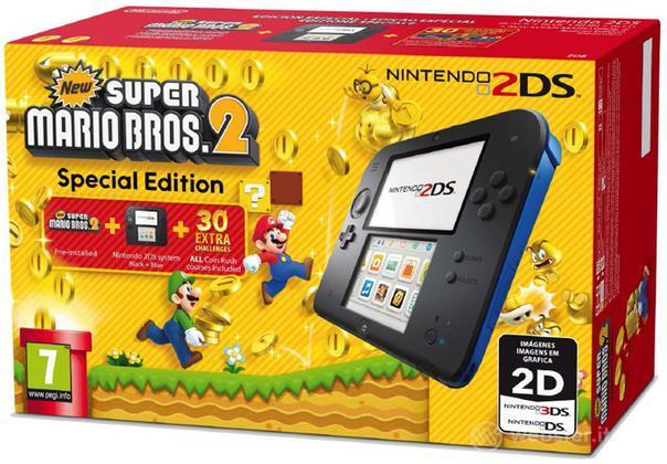 Nintendo 2DS Nero+Blu+New Super M.Bros 2