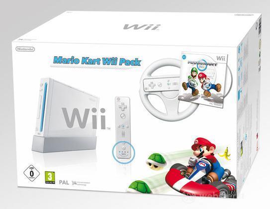 WII Mario Kart Pack Bianco