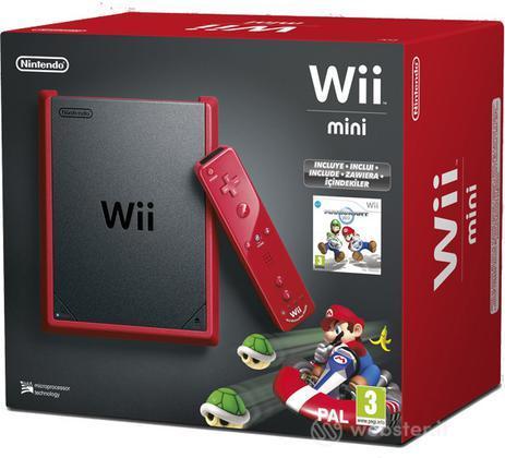 Wii Mini Red + Mario Kart Wii