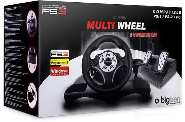 BB Volante di gioco con pedali PS3