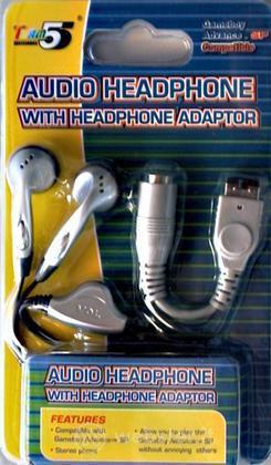 GBA SP Cuffia Audio + Adattatore