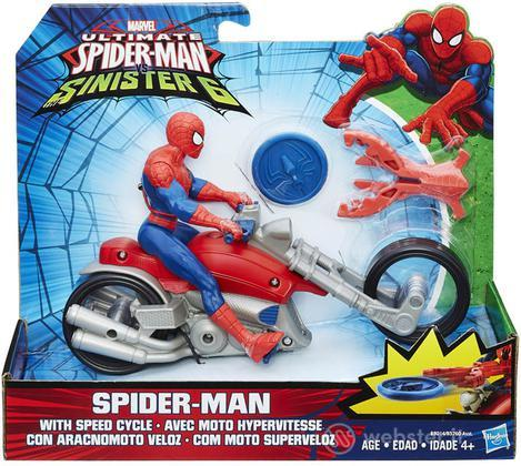 Figure Marvel Spiderman+Speed Cicle