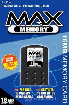 DATEL PS2 - Memory Max 16MB+CD 10 giochi
