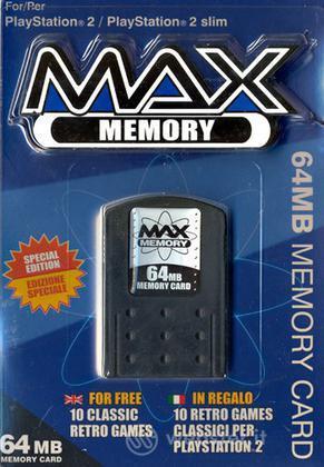 DATEL PS2 - Memory Max 64MB+CD 10 giochi
