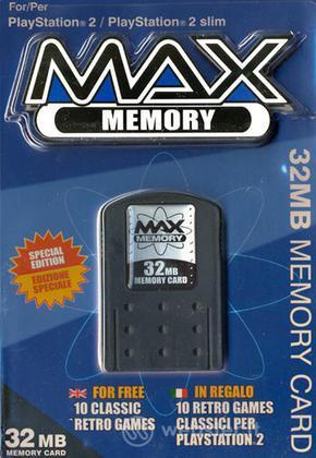 DATEL PS2 - Memory Max 32MB+CD 10 giochi
