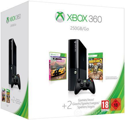 XBOX 360 250GB +Forza Hor.+Borderlands 2