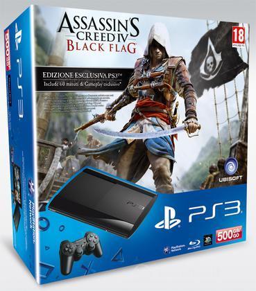 Playstation 3 500GB+Assass. Creed 4+TLOU