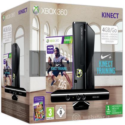 XBOX 360 4GB+Kinect+Kinect Nike Training