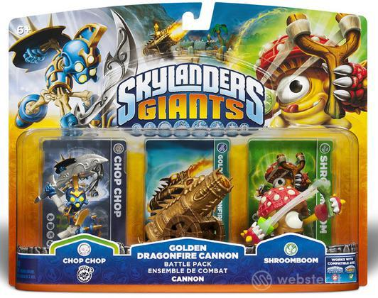 Skylanders Giants Battle P.Golden Cannon
