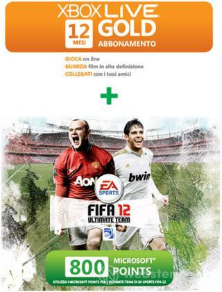 MICROSOFT X360 Live 12M+800 Points FIFA