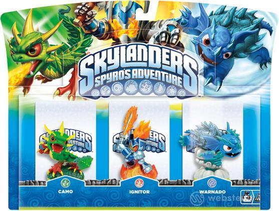 Skylanders Warnado + Camo + Ignitor