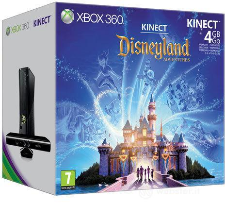 XBOX 360 4GB +Kinect+Disneyland Adv.
