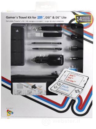 Kit 14 in 1 Travel Nero 3DS DSI DSLITE