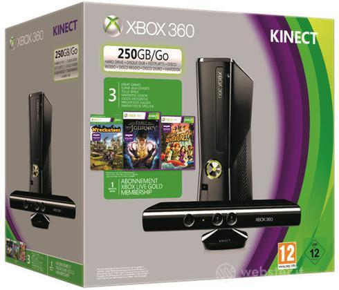 XBOX 360 250GB +Kinect+Fable J+Wreckatee