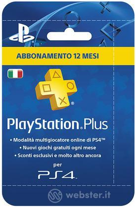 Sony PSN PS Plus Hanging Card 12 Mesi