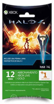 MICROSOFT X360 Live 12M+1+SwordPen Halo4