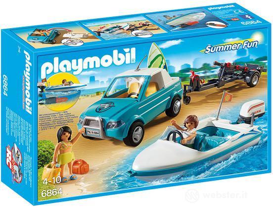 PLAYMOBIL Surfisti+ Pick Up + Motoscafo