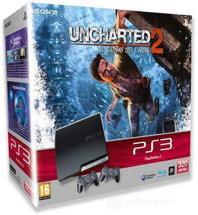 Playstation 3 320GB+Unch 2+Dualsh 3