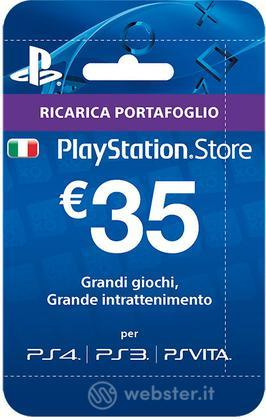 Sony PSN Hanging Card 35 Euro