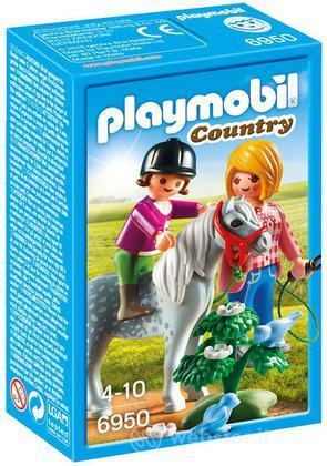 PLAYMOBIL Pony Con Mamma E Bambina