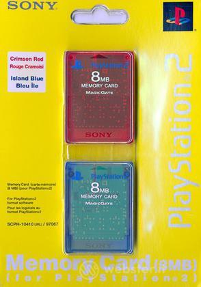 PS2 Sony Memory Card 8 Mb 2pz Colorate