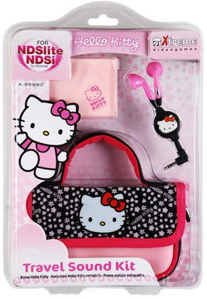 NDS DsLite Travel Sound Kit Hello Kitty