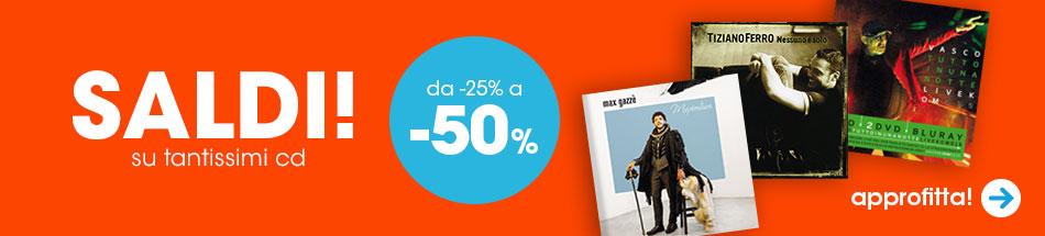 Saldi di gennaio: sconti dal 25 al 50% su tantissimi cd!