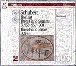 The last three piano sonatas (le ultime 3 sonate per pianoforte d958-960 - klavierstucke d946)