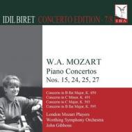 Concerti per pianoforte n.15 k 450, n.24 k 491, n.25 k 503, n.27 k 595