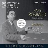 Rosbaud dirigiert brahms: sinfonie, sere