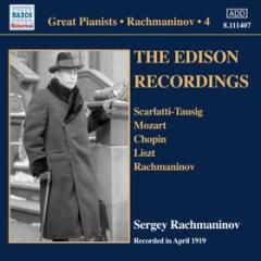 Sergey rachmaninov - the edison recordin